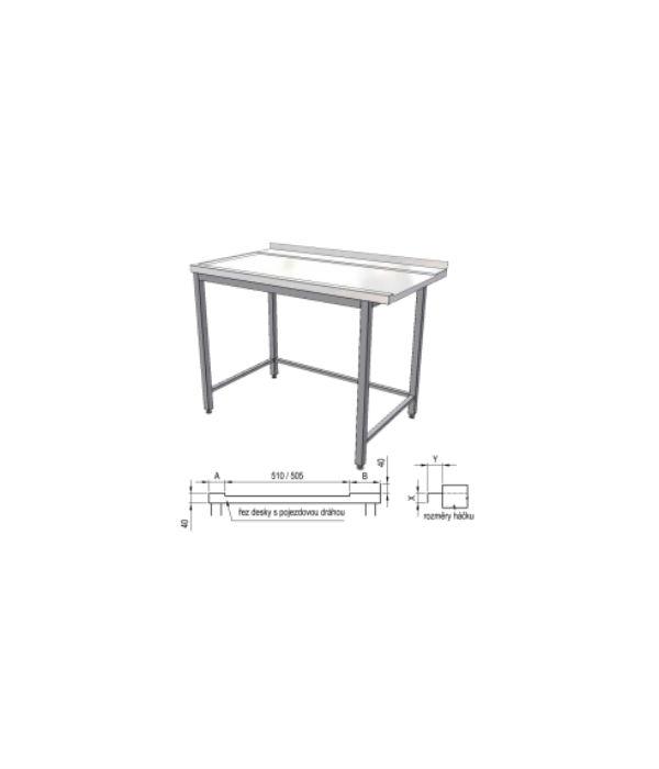 nerezový výstupní stůl k myčce