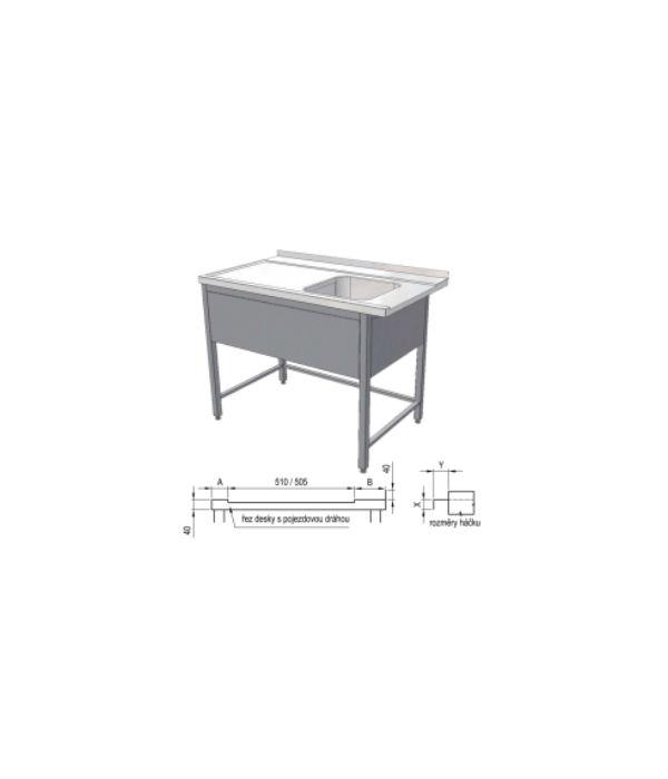 nerezový vstupní stůl k myčce