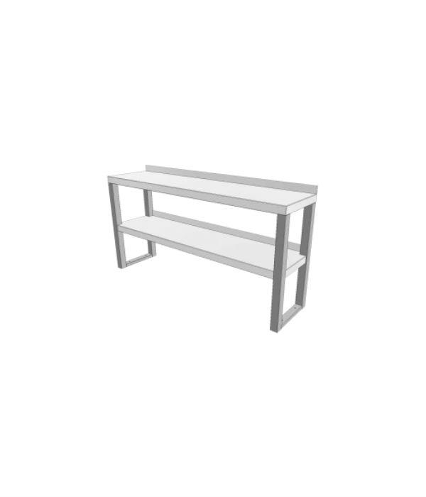 nerezový stolový nástavec dvoupatrový