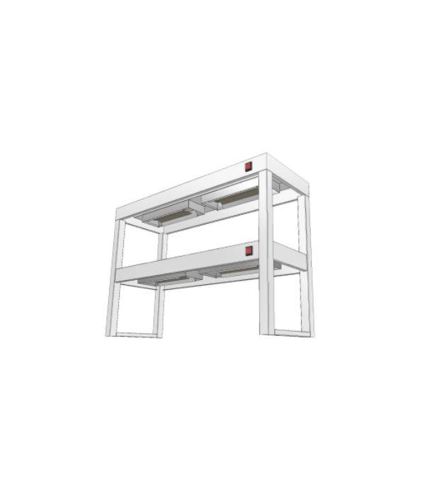 nerezový stolový nástavec dvoupatrový s infraohřevem