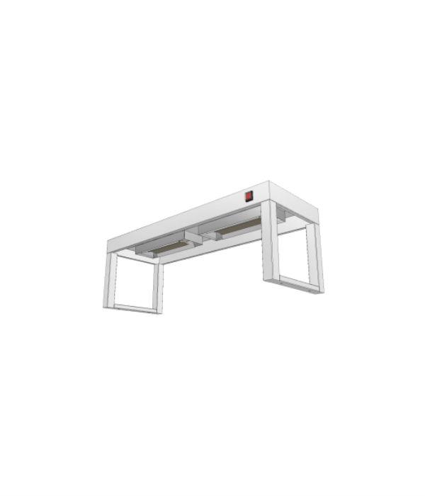 nerezový stolový nástavec s infraohřevem