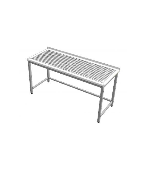 nerezový stůl s odkapovou plochou