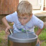 realizace nerezová pitná fontána pro děti AFO 03D