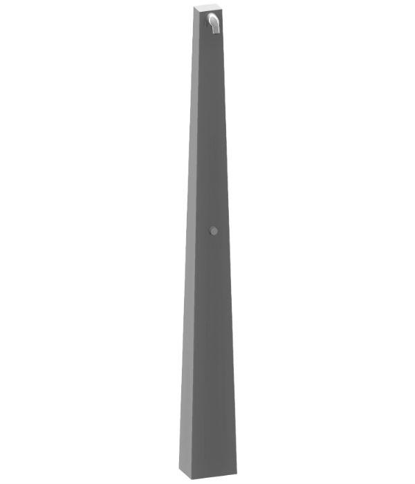 jehlanový sprchový sloup SPS 04, nerezový antivandal
