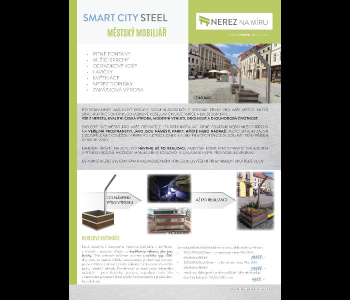 Smart city steel – městský mobiliář